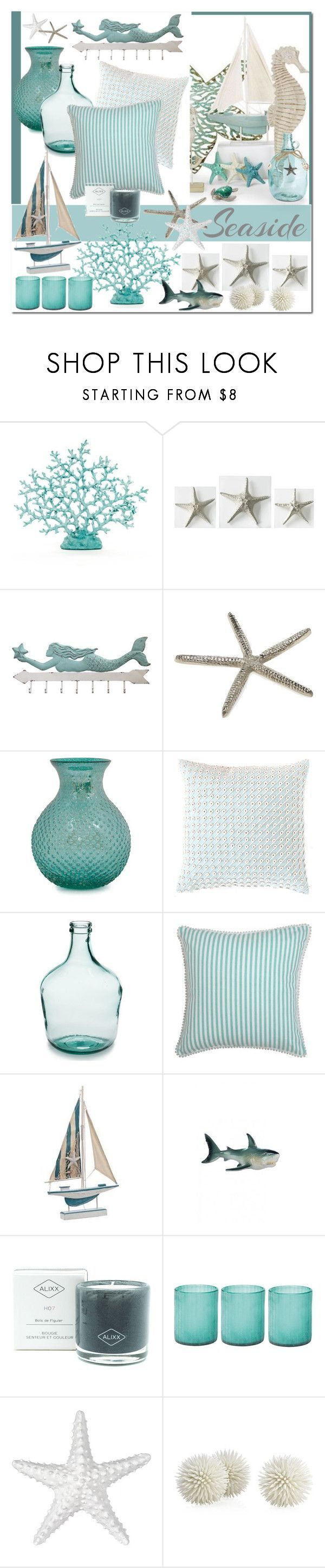 """Beach House Decor"" by brendariley-1 ❤ liked on Polyvore featuring interior, interiors, interior design, home, home decor, interior decorating, Dot & Bo, Pine Cone Hill, ALIXX and Jamie Young"