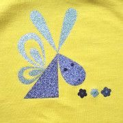 T-shirt design - Yellow bunny
