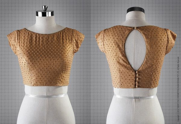 Golden Blouse/ Bustier