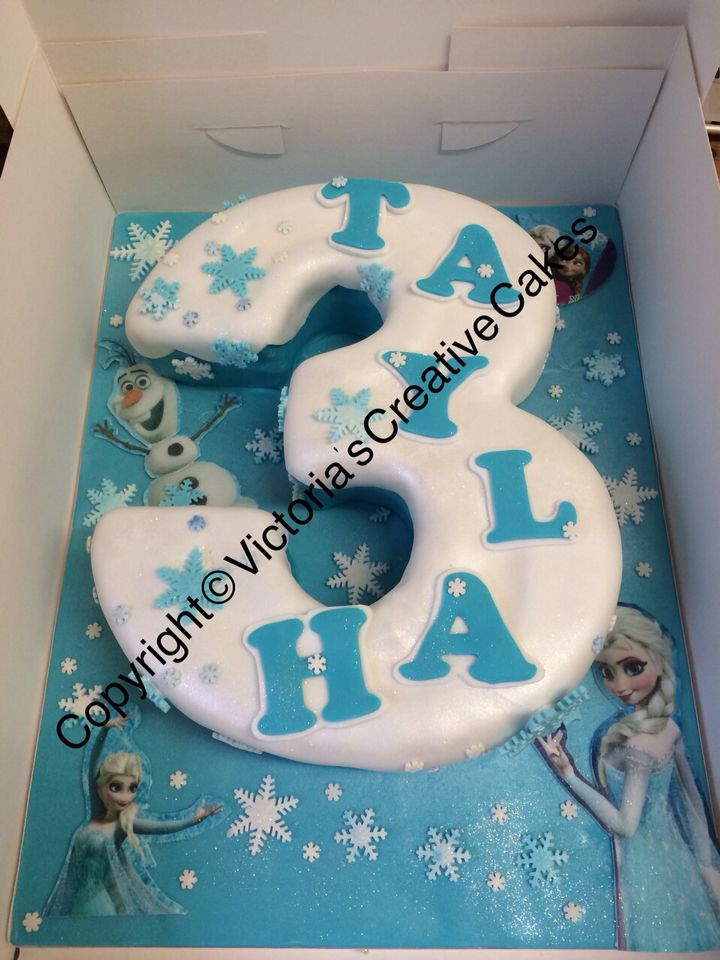 Frozen Number 3 Cake Birthday Stuff In 2019 Cake