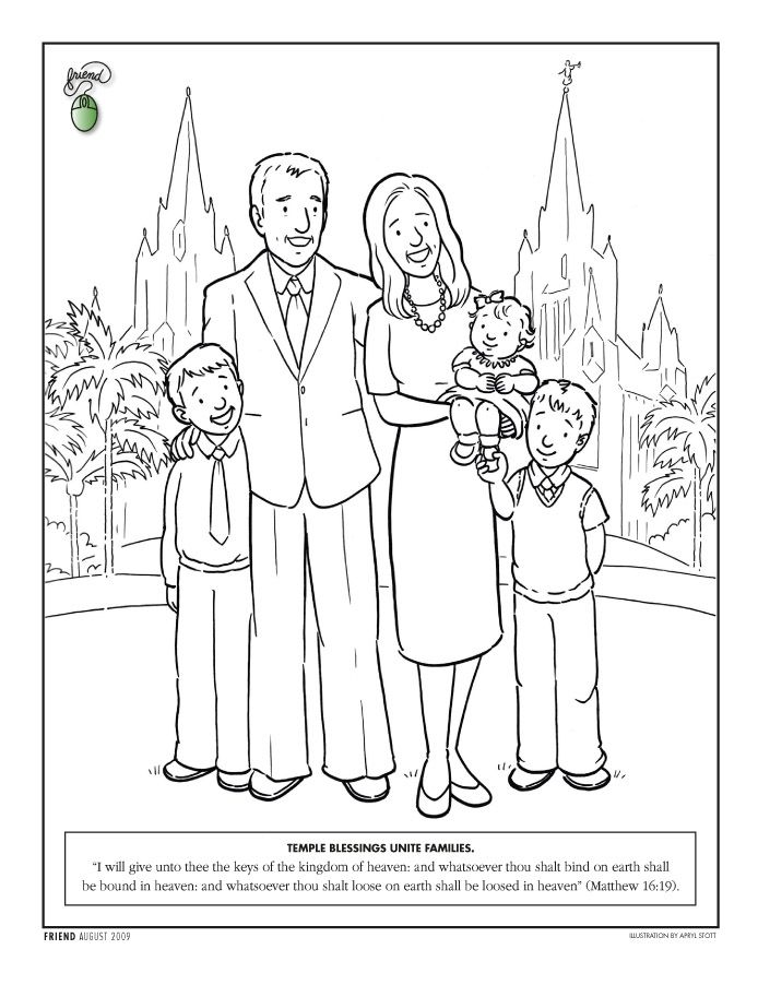 lds coloring pages temple coloring page lds lesson ideas - I Can Be A Friend Coloring Page