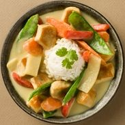 Thai Kitchen - Green Curry Chicken with Basil... Based on How often I buy this at restaurants, I need to try to make it!