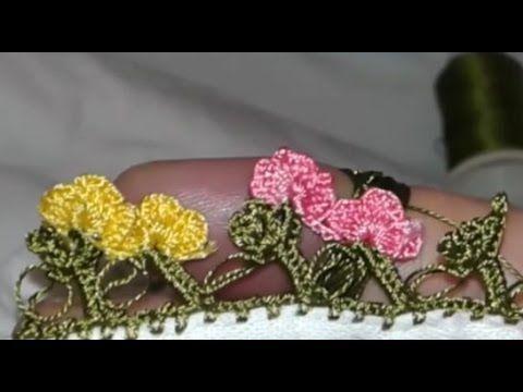 Tığ işi Yazma Oyası Kır Çiçekleri Modeli Yapılışı Videolu Anlatım