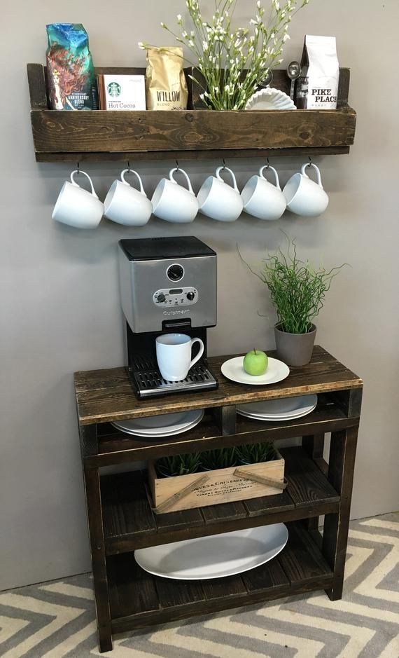 Daisy Coffee Bar Table Coffee Bar Table Coffee Station Table Pallet Table Wine Storage Entry Table Bookcase Coffee Bar Home Diy Coffee Bar Coffee Bar Design