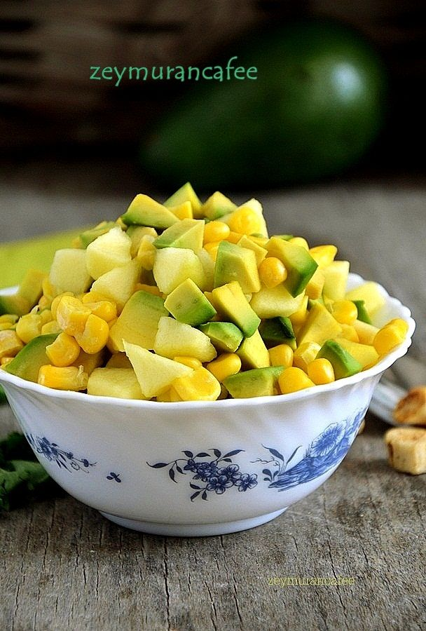 ananas avakado mısır salatası diyet salata tarifleri ,salata http://www.zeymurancafee.com/ananas-avakado-misir-salatasi/