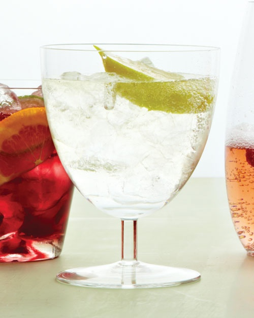 White Wine Spritzer (normally use club soda...what a good idea to use ...