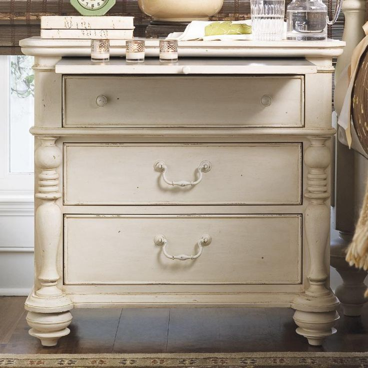Paula Deen Home Drawer Nightstand With Pull Out Shelf