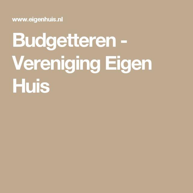 Budgetteren - Vereniging Eigen Huis