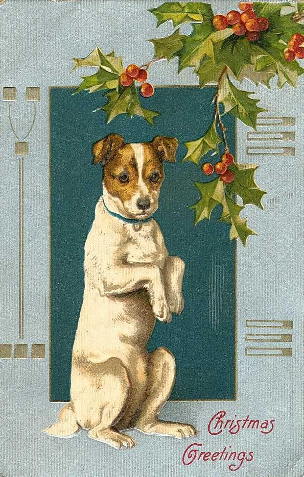 Free Vintage Animal Christmas Cards