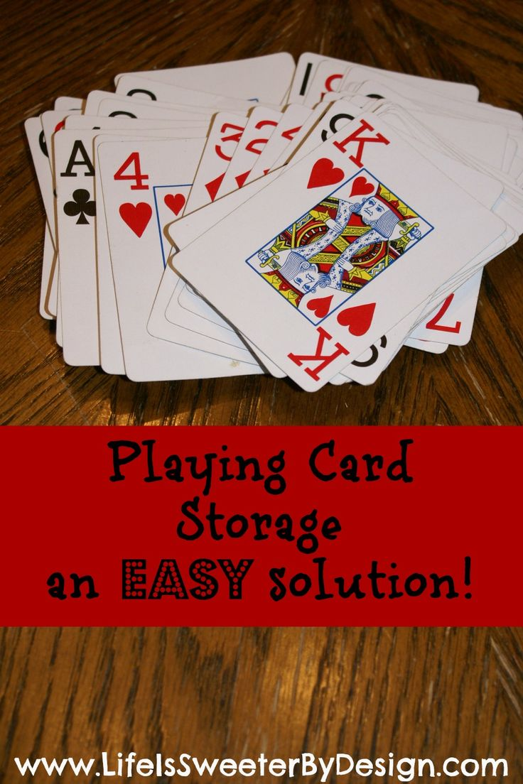 Simple storage and organization idea to keep your cards together! Check out this easy Saturday Solution!