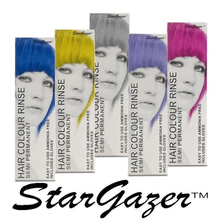 Stargazer Hair Dye 70 ml Le tinte Stargazer sono prive di ammoniaca o perossido e permettono di ottenere una vasta gamma di colori. Possono essere applicate sui capelli naturali, tinti o decolorati. Per ottenere un risultato ottimale, vanno applicate sui capelli pre-schiariti. Possono essere mescolate insieme per produrre una gamma sempre più ampia di colori.  Le tonalità UV sono molto luminose e danno un effetto neon sui capelli.