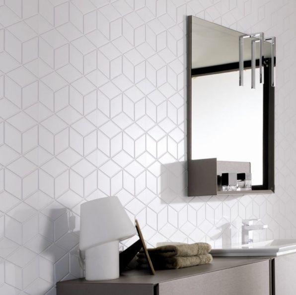 Earp Bros - Wall Tiles, Cube, Cube White - Earp Bros Tiles, Tiles Sydney tiles for laundry