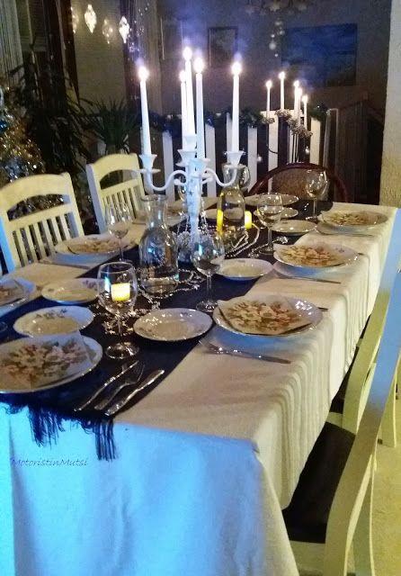 Christmas Eve dinner table 2016