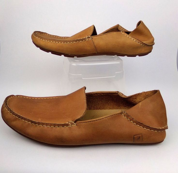 Sperry Top Sider Mens Leather Slip On Loafers Boat Shoes Size 11.5 M 10282558 #SperryTopSider #LoafersSlipOns