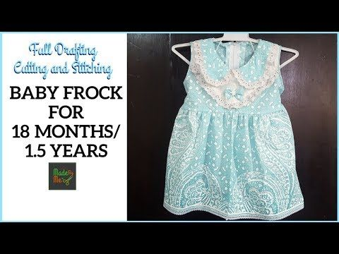 4147c6fdff BABY FROCK for 18 Months/1.5 Years with DRAFTING Cutting and ...