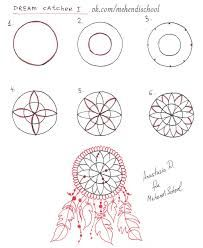 Image result for how to draw dream catchers step by step