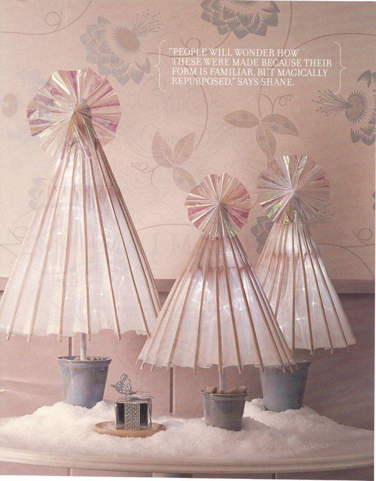 pink umbrella trees!
