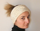 FREE SHIPPING ivory headband,knitted trends,fashion,bandana,gift ideas,women trends,hair accessories,unique gifts,Knitted boho headband