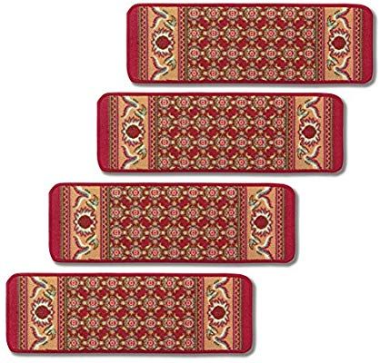 Best Amazon Com Non Slip Stair Carpets Set Of 4 Burgundy 400 x 300