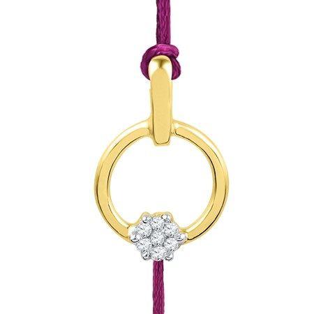 Jpearls Pamela #Diamond #Rakhi. Rs. 4137.  Get our exquisite Jewellery for Raksha Bandhan today!