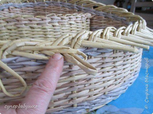 Мастер-класс Материалы и инструменты Плетение И снова загибка с петелькой   Трубочки бумажные фото 5