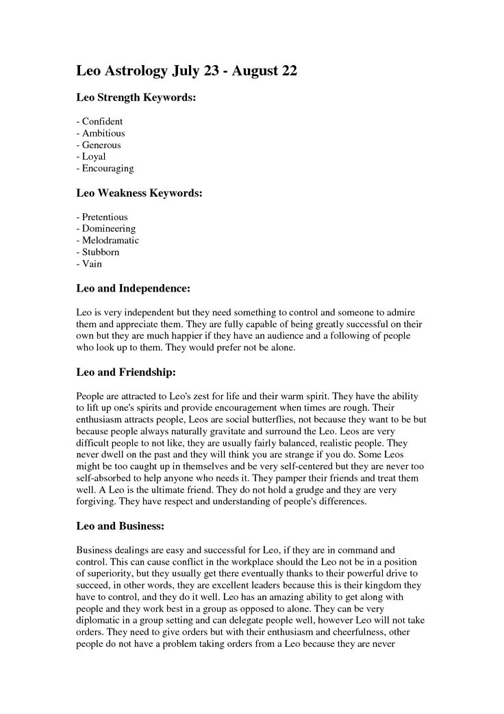 leo personality traits - Google Search