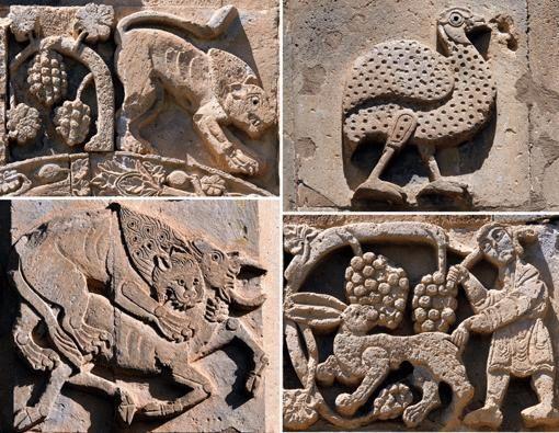 VAN - Akdamar Kilisesi'nin rölyefleri, bölgede 1100 yıl önce yaşayan hayvan…