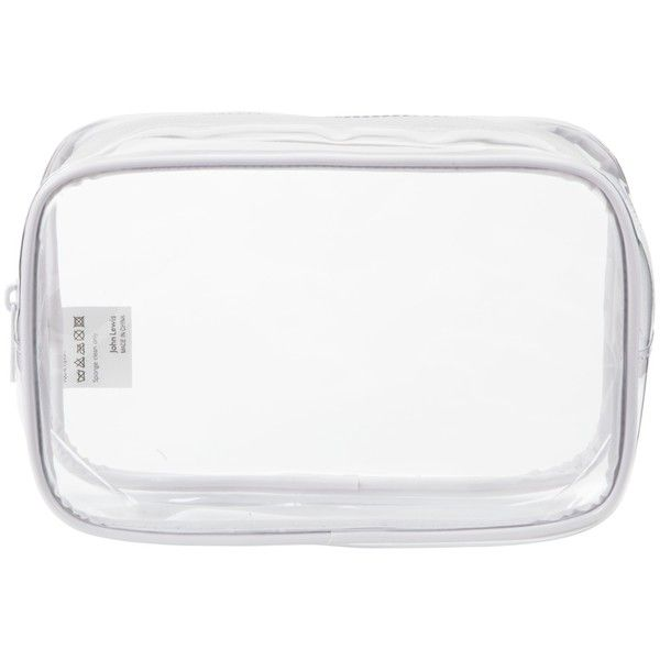 John Lewis Clear Cosmetics Purse featuring polyvore, beauty products, beauty accessories, bags & cases, bags, fillers, accessories, makeup, white, john lewis, travel bag, travel dopp kit, dop kit and clear toiletry bag