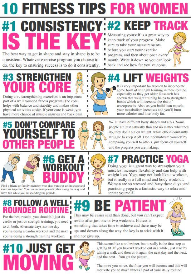 10 Fitness Tips for Women