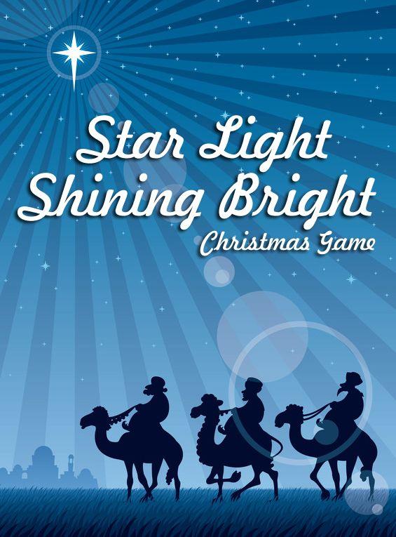 Star Light Shining Bright - The End In Mind   Christmas sunday school, Sunday school kids ...