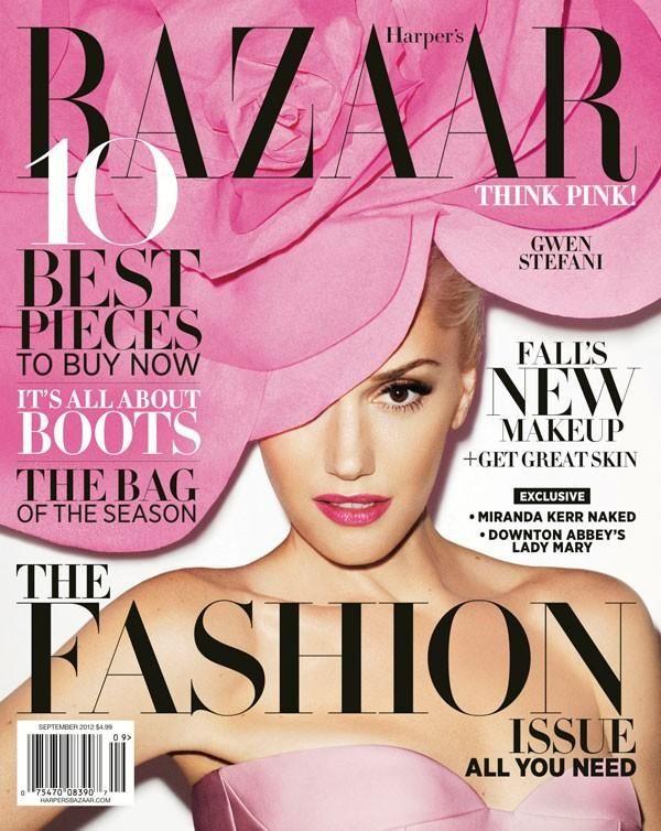 Harper's Bazaar September 2012 Cover (Harper's Bazaar): Gwenstefani, Gwen Stefani, Harpers Bazaars, Jil Sander, Fashionmagazin, Fashion Magazines, Magazines Covers, Harpersbazaar, Terry Richardson