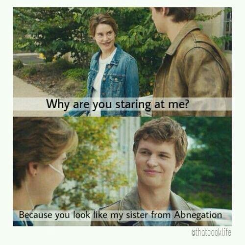 The Fault in Our Stars... funny Divergent moment