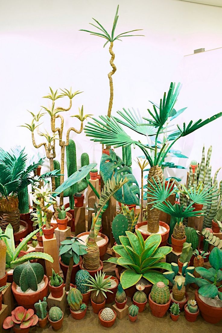Potted Houseplants Hand Carved from Wood by Yuto Yamasaki