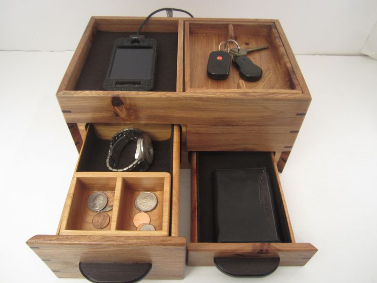 Menu0027s Valet Box With Phone Charging And Hidden Compartments Texas Cedar Elm - Readeru0027s Gallery & 95 best Menu0027s Valet Box images on Pinterest | Coins Woodwork and ... Aboutintivar.Com
