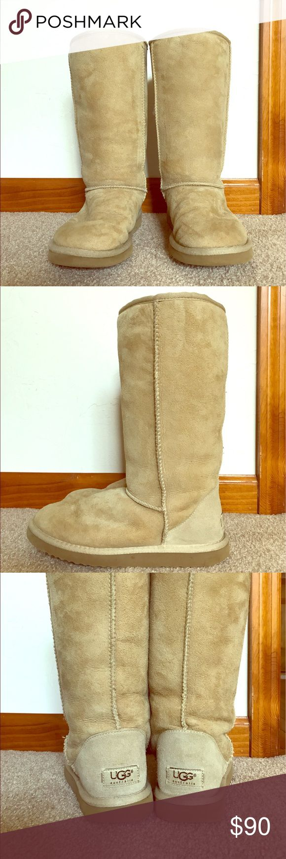 UGG Classic Tall Boots - Sand Tall sheep skin wool women's UGG boots. They have normal signs of wear. UGG Shoes Winter & Rain Boots