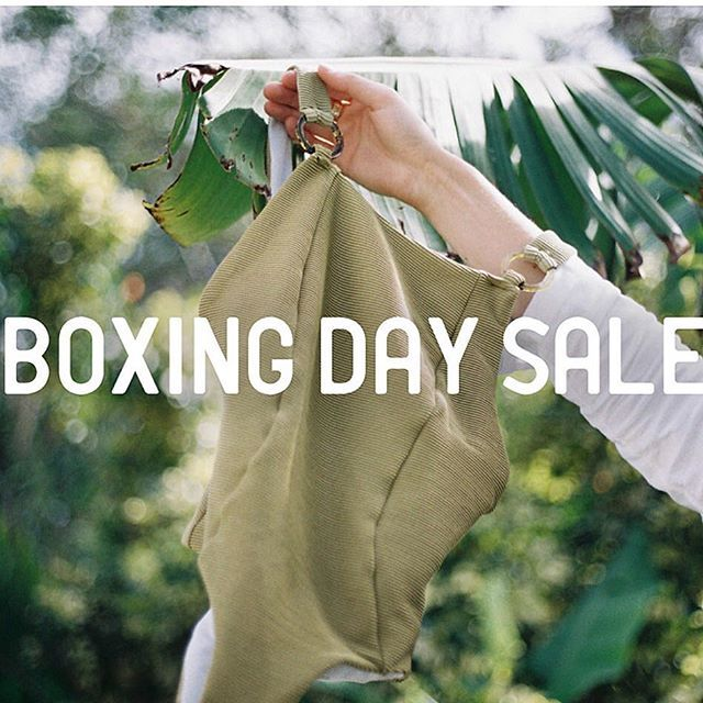BOXING DAY SALE STARTS NOW • Shop store wide with 30% off • Use code BOX30 • Sale ends Wednesday