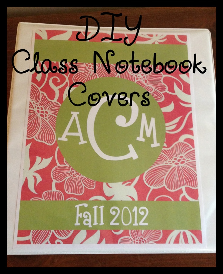 DIY Monogrammed Notebooks