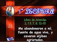 LECTURAS DEL DIA: Lecturas y Liturgia del 24 de Julio de 2014