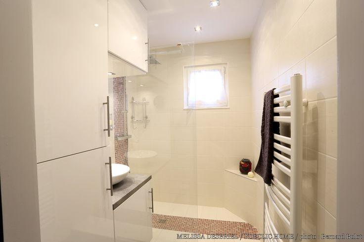 r novation d 39 une salle de bains de 3m2 par m lissa desbriel petits espaces pinterest. Black Bedroom Furniture Sets. Home Design Ideas