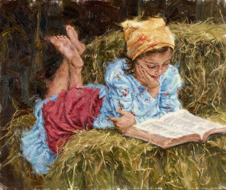 """Carla D'aguanno """"Time with the Good Book"""", 20x24  Fredericksburg Art Gallery www.FbgArtGallery.com"""