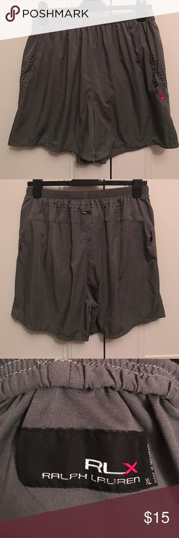 Ralph Lauren RLX gray shorts Ralph Lauren RLX gray shorts. White paint splatter on it Ralph Lauren Shorts Athletic