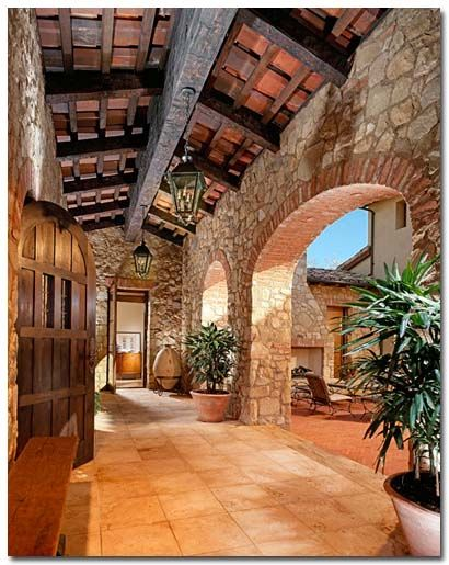 Brick archway... Here is the entry to the farmhouse!