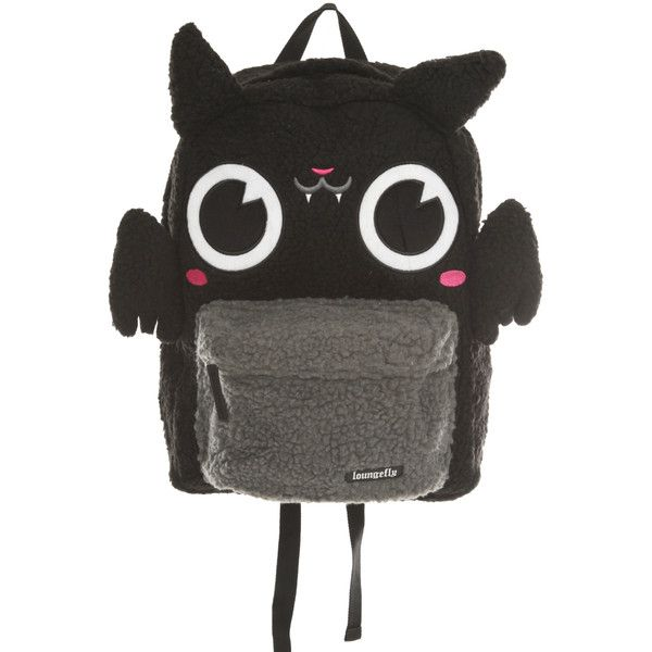 Loungefly Bat Plush Backpack | Hot Topic ($30) ❤ liked on Polyvore featuring bags, backpacks, accessories and bat
