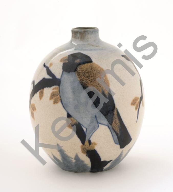 """Vase """"corneilles"""" 1930 par Charles Catteau (1880-1966). / Vaas """"corneilles"""" van Charles Catteau (1880-1966)."""