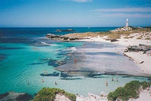 The Basin, a popular swimming spot at #Rottnest Island off the coast of Perth, Australia.