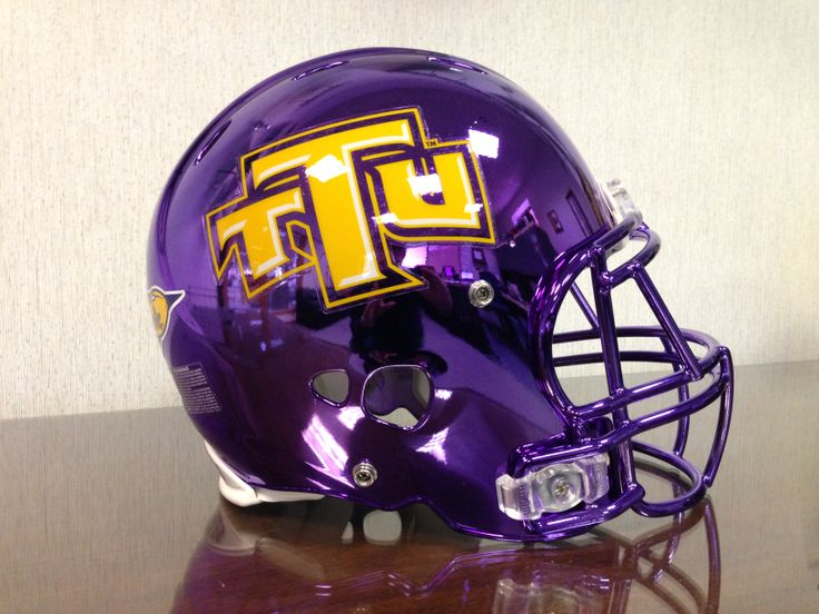 Today we have the Tennessee Tech University football team's purple chrome helmet from the 2013 season in our office!