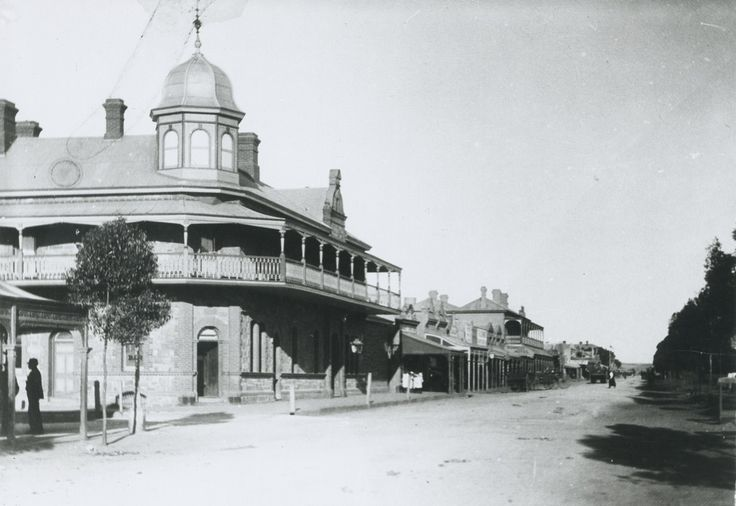 Main Street at Petersburg South Australia  1899