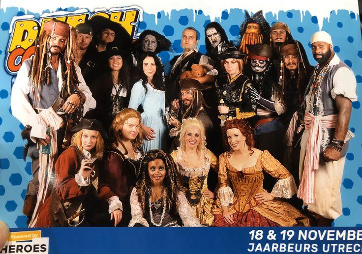 The whole Dutch Pirate Crew at Dutch ComicCon,novembee 2017,Utrecht NL