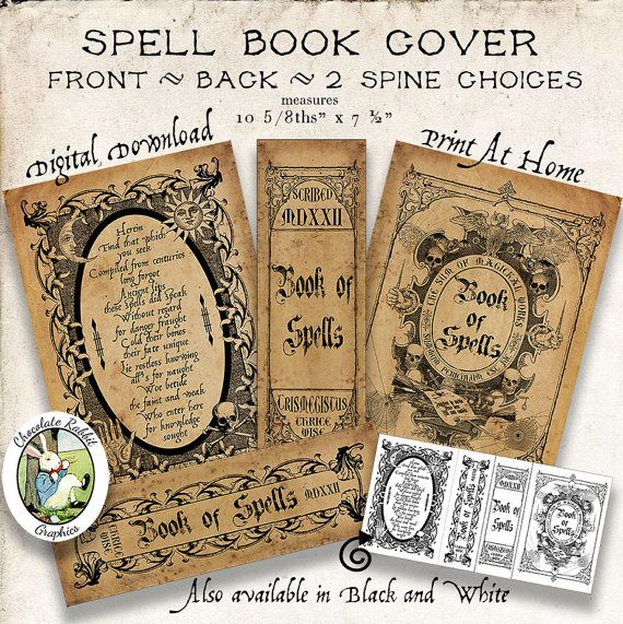 Printable Book Cover Labels : Best images about labels spell books on pinterest