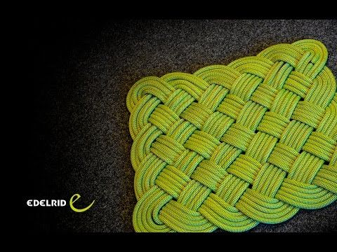 How to weave a rope mat - YouTube